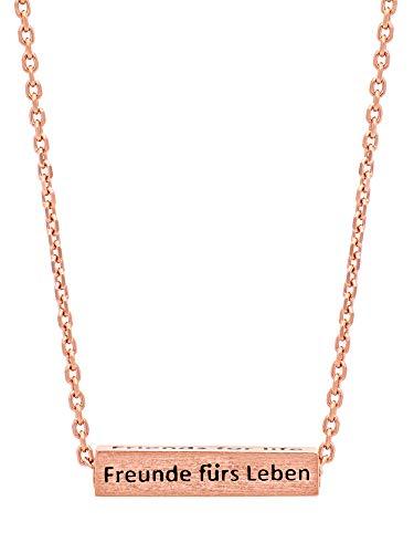 Julie Julsen JJNE0711.2 Damen Collier Freunde fürs Leben Silber 925 Rose 42 cm