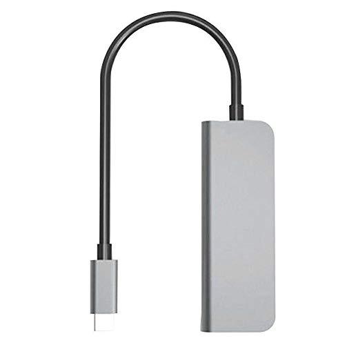 cherrypop USB C a 4K HDMI Tipo-C 4-en-1 Multipuerto Hub Multifunción Convertidor para Portátiles