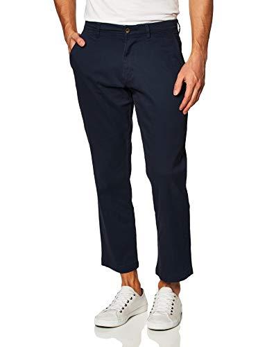 Amazon Essentials Men's Slim-Fit Casual Stretch Khaki, Navy, 33W x 34L