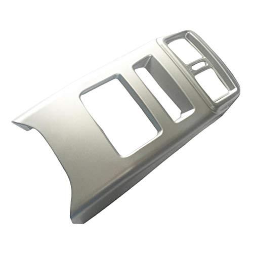 YFQH Cubierta de salida de aire acondicionado trasero del interior del coche, ajuste para Nissan Qashqai J11 estilo decorativo (nombre del color: plata)