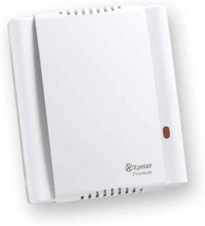 Xpelair Premier CF20T - Extractor de aire centrífugo para baño con temporizador e higrostato (bajo voltaje)