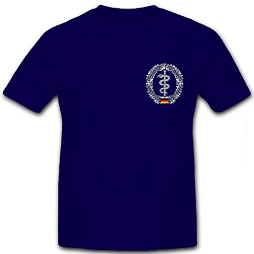 Sibernes Brustabzeichen Sanitäter-Bundeswehr Sani Erste Hilfe - T Shirt #8511, Größe:S, Farbe:Dunkelblau