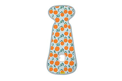 Colchoneta AirLayer AeroMoov para silla de paseo Naranjas - colchoneta 3D de forro suave con estructura alveolar transpirable que mantiene a su bebé fresco y seco en su silla de paseo ⭐