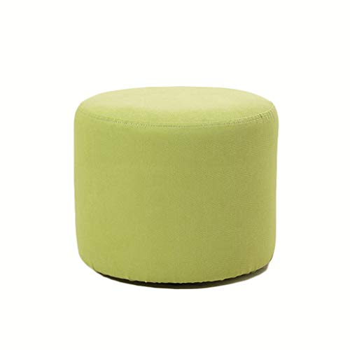Taburete cómodo para el hogar, perezoso, redondo, para sofá, zapatero, taburete nórdico, taburete pequeño de tela práctico (color: E)
