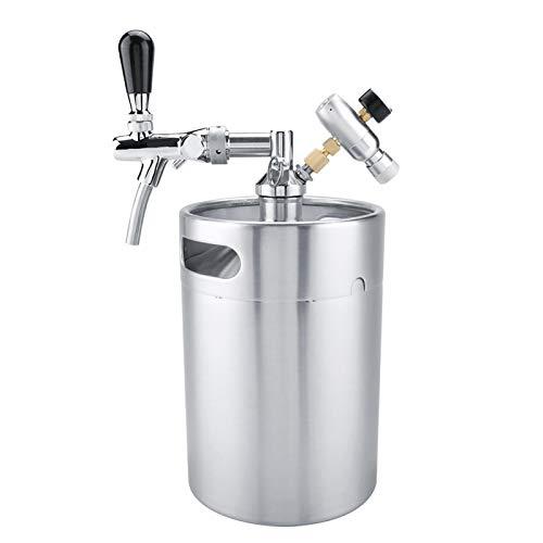 Fusto di birra in acciaio inossidabile 5L Mini barilotto in acciaio inossidabile con rubinetto Set di erogatori di birra artigianale pressurizzata per birra artigianale