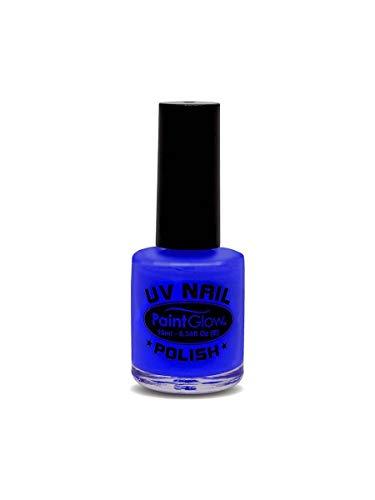 Smiffy's - UV esmalte de uñas, 12 ml, color azul (46025)
