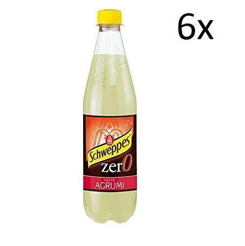 6x Schweppes Zero agrumi Zitrusgewächs Lemonade ohne zucker PET 0,6 L Erfrischend