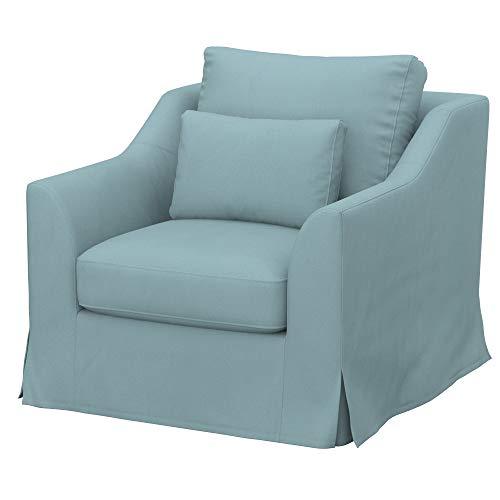 Soferia Funda de Repuesto para IKEA FARLOV sillón, Tela Eco Leather Mint, Verde