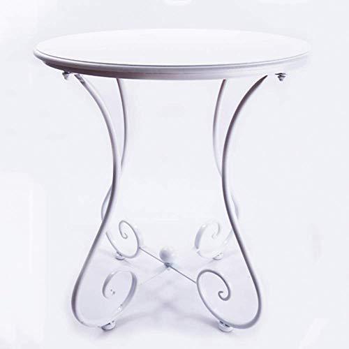 Home Beistelltische Nordic Massivholz Kreative Nachttisch Möbel Japanischen Stil Einfachen Holztisch Kleinen Teetisch Computer Ecktisch, BOSS LV, Weiß + Gold, 40 cm