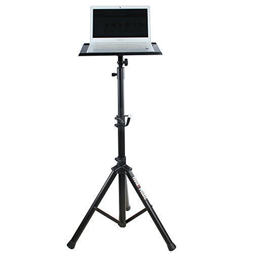 Hola! Music HPS-300B Heavy Duty Professional Multi-Purpose DJ Tripod Stand - Laptop Stand, Projector...