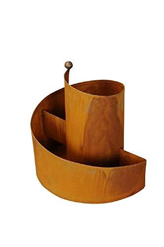 EllasDekokrempel Kräuterschnecke/Kräuterspirale 37x37cm Metall Rost