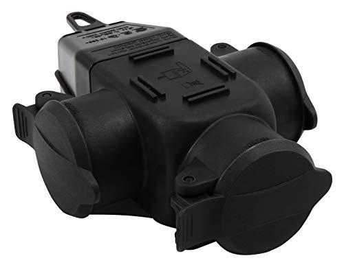 MC POWER - Schutzkontakt-Verteiler Adapter Anschlussdose | 3-fach, IP44 - für Außen, 16A