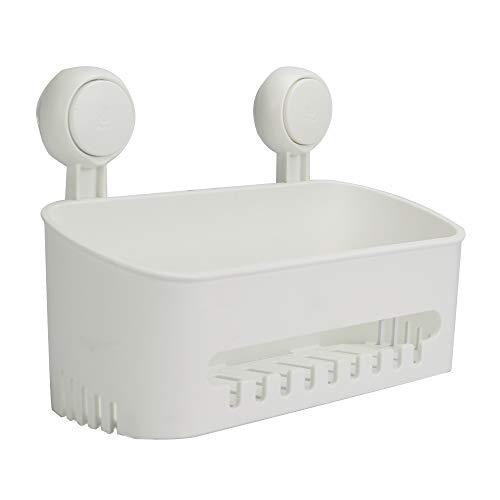 Suction Cup Shower Caddy | Drill-Free Storage Basket | Shampoo & Toiletries Holder | Removable Wall Shelf | Kitchen & Bathroom Organiser | Pukkr