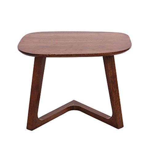 HXCD Mesa auxiliar de madera tipo Z, multifunción, mesa redonda pequeña, mesa auxiliar de café, sofá, bocadillos perezosos para leer mesita de noche