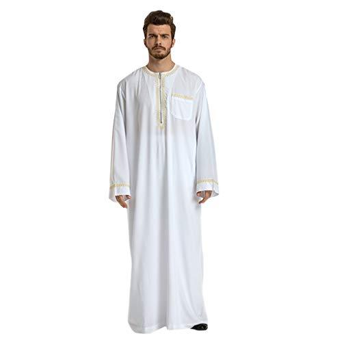 CICIYONER Kaftan Herren Robe Männer Ethnische Roben Langarm Islamischer Moslemischer Mittlerer Osten Maxikleid