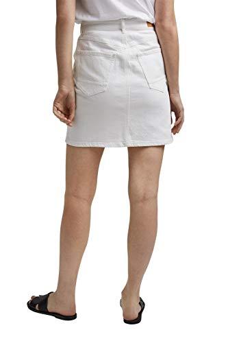 Esprit 031EE1D317 Falda, 110/blanco Roto, 36 para Mujer