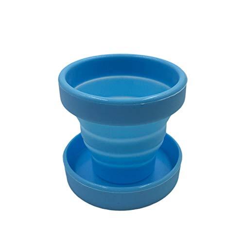 Dasing Vaginal Menstruationstasse und Sterilisationstasse Sterilisation Faltbare Tassen Flexibel zu Reinigen Recycelbar Camping Faltbare Tasse für Frauen (Blau)