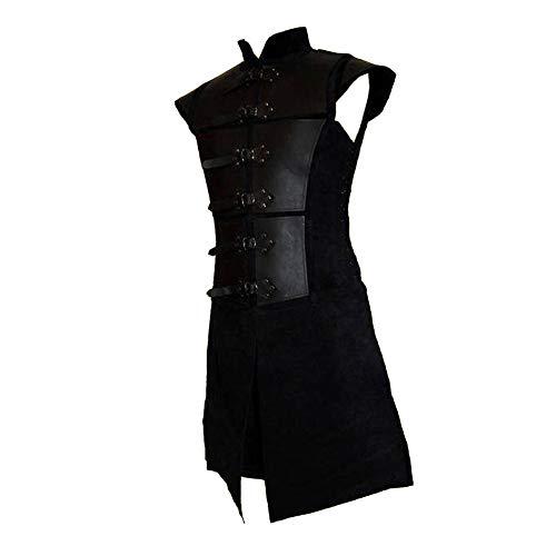 Dihope, estilo retro, chaleco medieval para hombre, estilo gótico, sin mangas, ajustado, casual, moda clásica para velada o boda