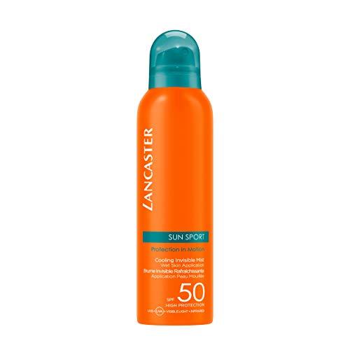 LANCASTER Sun Sport Cooling Invisible Mist LSF 50, kühlendes Sonnenschutz-Spray, wasser- und schweißresistent, 200 ml