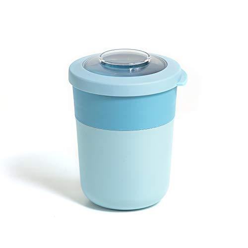 Amuse Lunch Pot mit Zwei Fächern, Blau, 500ml + 200ml, für Müsli-Joghurt, Nudeln, Salat usw. Müsli to Go Becher (Blau)