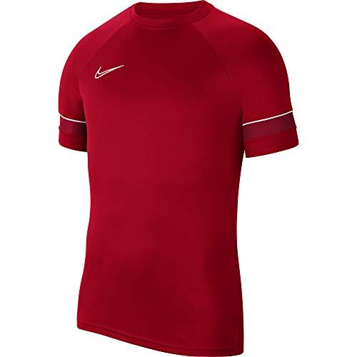 NIKE Dri-FIT Academy 21 Pantalones Cortos de Jersey, Rojo Universitario/Blanco/Rojo Gimnasio/Blanco, Small para Hombre