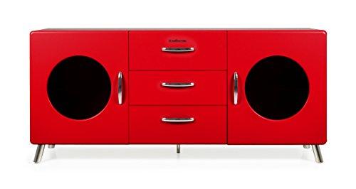 TENZO Sideboard, Holz, 73 x 163 x 43 cm, rot