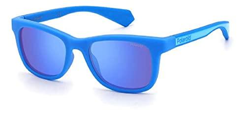Polaroid Gafas de sol PLD 8031 ZX9 5X azules lentes polarizadas unisex para niños