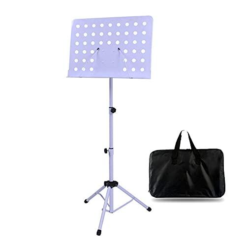 Soporte de la hoja de la hoja del conductor de la orquesta, el soporte de la partitura y el soporte de la música portátil con la bolsa de transporte, el soporte del trípode de metal, el titular del cl