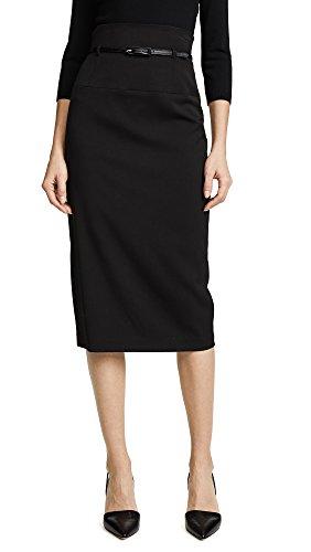 Black Halo Women's High Waisted Pencil Skirt, Black, 2