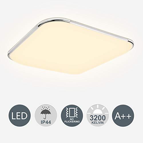 Hengda 12W LED Deckenleuchte Warmweiss Flimmerfrei Deckenlampe Badezimmerlampe inkl. IP44 1080lm 6500K Wohnraumleuchte