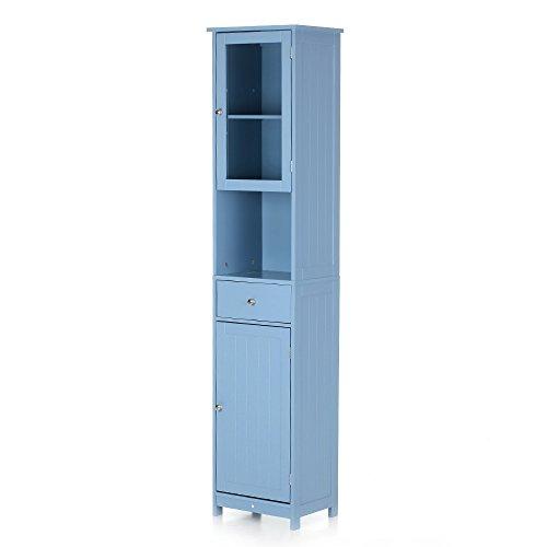 ikea badkamerkast blauw