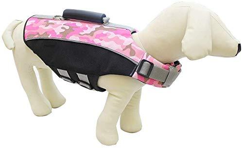 Ccgdgft Huisdier benodigdheden Huisdier Leven Jas Hond Drijvend Vest Hond Leven Jas Huisdier Drijvende Jas Grote Hond Zwemkleding, Blauw, Groen, Roze, (M-XL) (kleur : Blauw, Maat : L), XLarge, roze