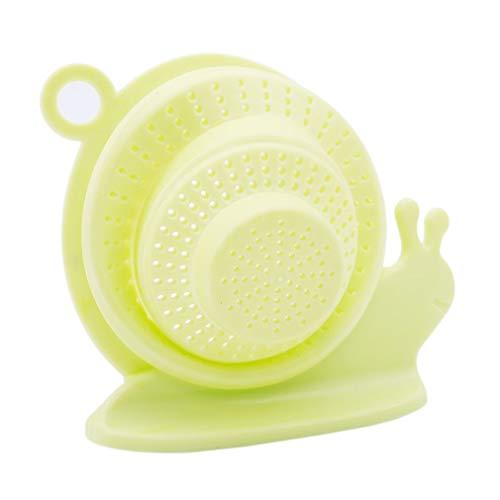 Hengxing Filter Abflusssieb Schneckenform Haarfänger Badstopper Duschhaube Küche Bad Waschbecken Abflusssieb, Silikon, grün, As dercription