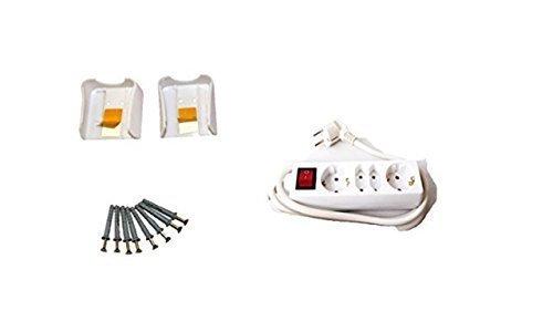 3-regleta múltiple connettore regleta Multi toma de corriente con seguridad para niños...