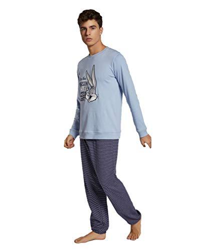 GISELA Pijama Hombre Looney Tunes Rayas...