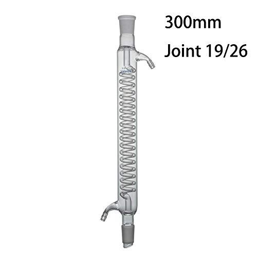 DADAKEWIN 300mm Graham Kondensator, Joint 19/26, Borosilicatglas 3.3 Standard Boden Mouth Hitzebeständige Heavy Duty Anpassbare Scientific Lab Condensers- 1 Stück (Size : 300mm/19 * 26)