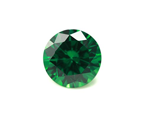Alone Moon loose ruby sapphire Emerald synthetic gemstones round diamond cut perfect -