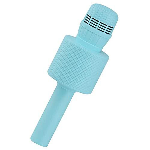 HAOTU Micrófono Karaoke Bluetooth, Micrófono Inalámbrico Bluetooth, Bluetooth Altavoz,Micrófono Karaoke Portátil para KTV Micrófono Wireless Bluetooth Compatibile con PC/iPad/iPhone (Azul)