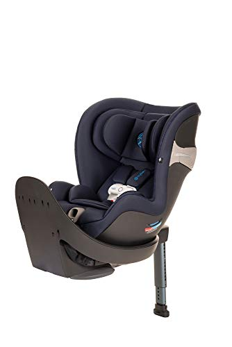 CYBEX Sirona S with SensorSafe, Convertible Car Seat, 360° Rotating Seat, Rear-Facing or Forward-Facing Car Seat, Easy Installation, SensorSafe Chest Clip, Instant Safety Alerts, Indigo Blue