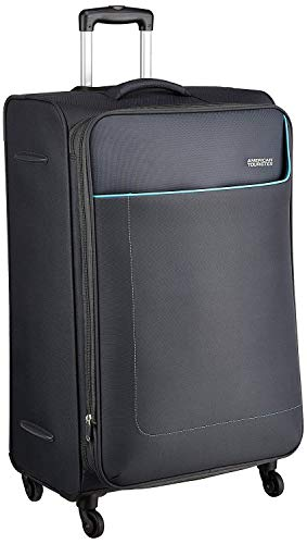 American Tourister Jamaica Polyester 80 cms Grey Softsided Suitcase...