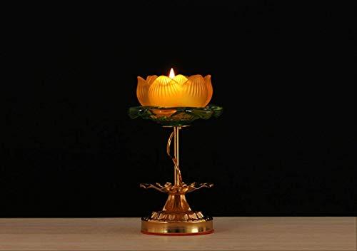 SEHBDY Candelero portalámparas de Loto esmaltado para candelabro del Templo Budista candelabro de pie Alto 16 cm portalámparas/Precio único