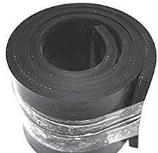 1200x120x10mm St/ärke 10mm in verschiedenen Gr/ö/ßen Gummistreifen mit Gewebeeinlage