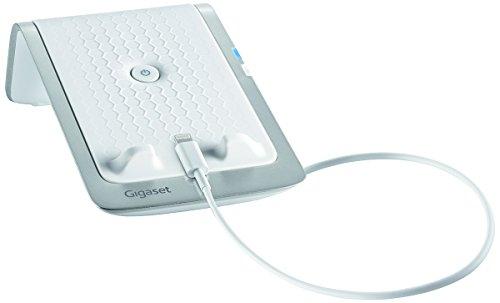 Gigaset LM550i Ladestation (geeignet für iPhone - Anrufweiterleitung vom Handy auf das Dect-Telefon zuhause, Schnelllade-Funktion) weiß