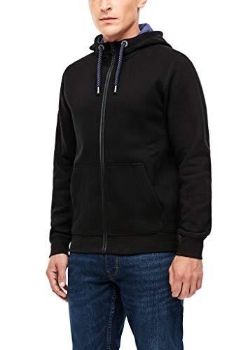 s.Oliver Herren 130.11.899.14.150.2055093 Sweatshirt-Jacke, Black, L