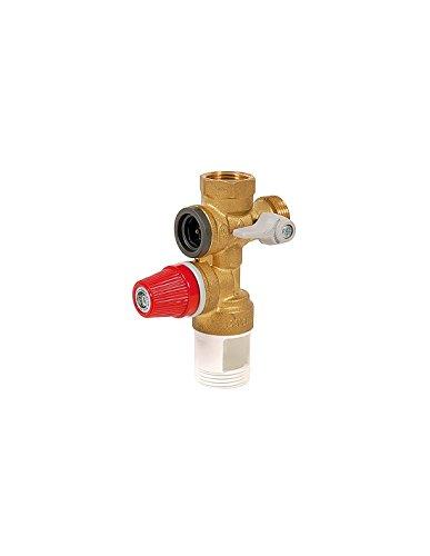 puissant Dipra 900060 Groupe de sécurité pour chauffe-eau, rouge