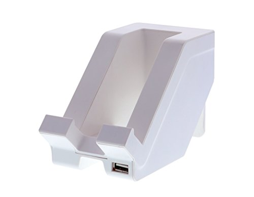 Bostitch Office Konnect Desktop Cell Phone and Tablet Stand, Fast Charging with USB Port, White - Compatible with iPhone, Android, iPad, Samsung Tablet and More (KT-PHONE-WHITE)