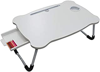 Lap Desk Laptop Table on Bed,Foldable Bed Desk,Portable Standing Bed Tray - With Ipad Holder Cup Slot Adjustbale Anti-slip...