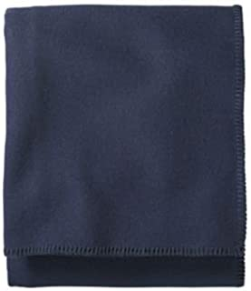 Pendleton - Eco-Wise Washable Wool Blanket, Midnight Navy, Queen