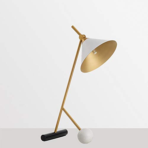 WangchngqingTD Flexo Led Escritorio, Lámpara de mesa moderna minimalista escritorio de metal de lujo del diseñador lámpara de hierro arte creativo de mármol lectura deco soporte de artefactos de ilumi