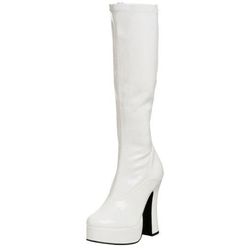 Pleaser ELECTRA-2000Z, Damen Langschaft Stiefel, Weiß (Weiss (Wht Str Pat)), 45 EU /10 UK